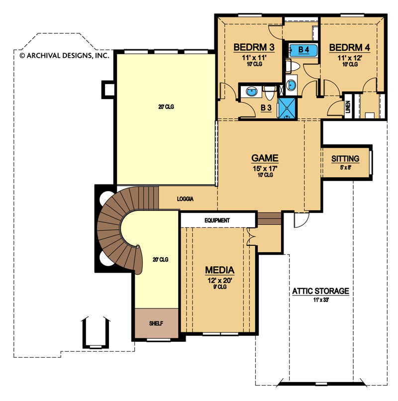 Broham Lakes Second Floor, floor plan