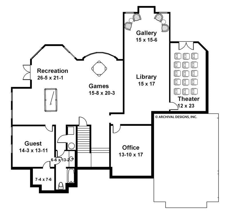 Bagatelle basement floor plan
