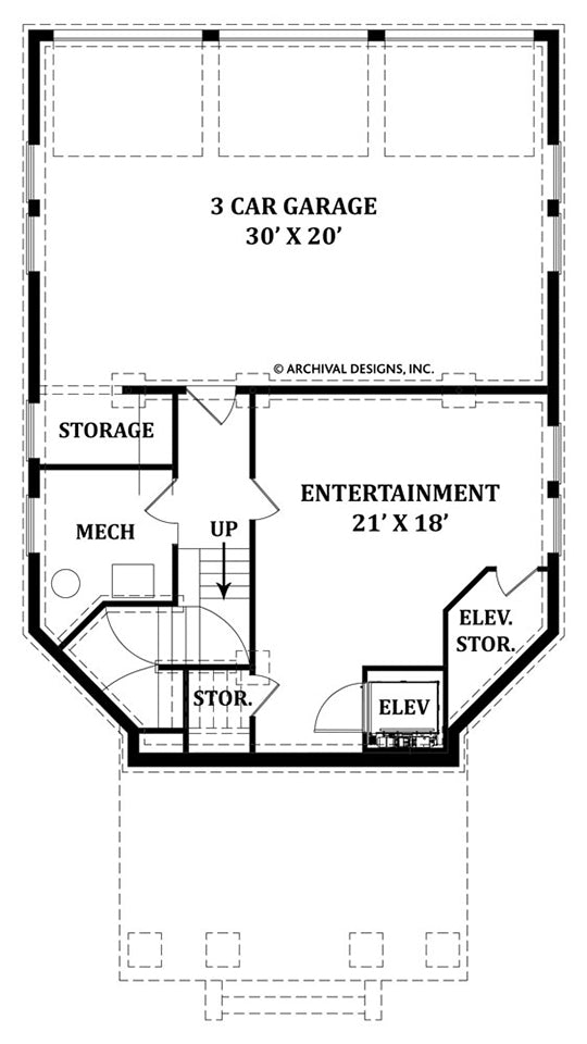 Balleroy basement floor plan