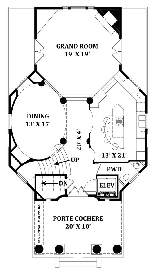 Balleroy first floor, floor plan