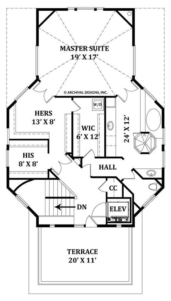 Balleroy third floor, floor plan