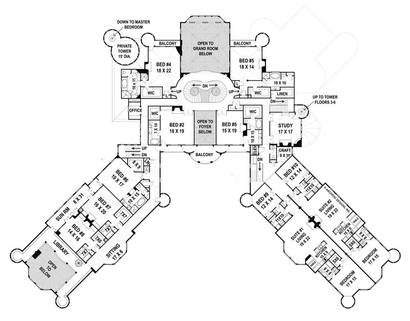 Balmoral second floor, floor plan