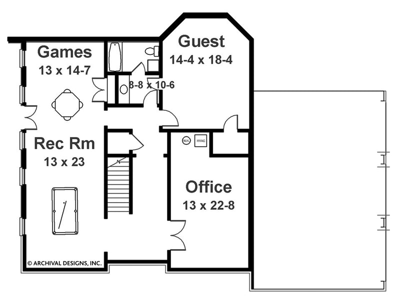 Barrymoore basement floor plan