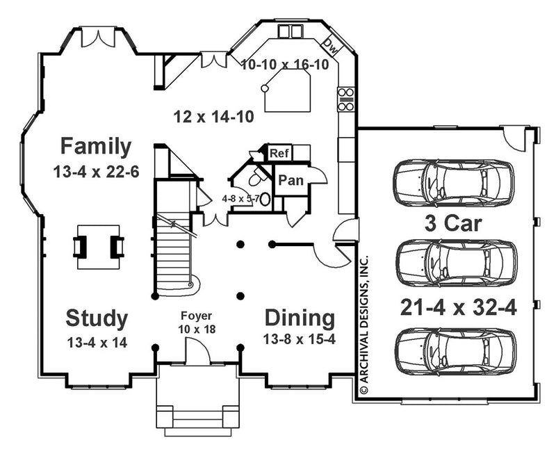 Barrymoore first floor, floor plan