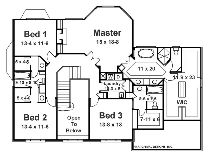 Barrymoore second floor, floor plan