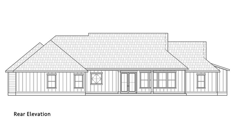 Bear Creek House | Rear Elevation