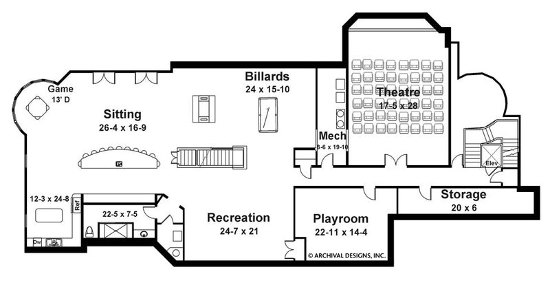 Bellenden Manor basement floor plan