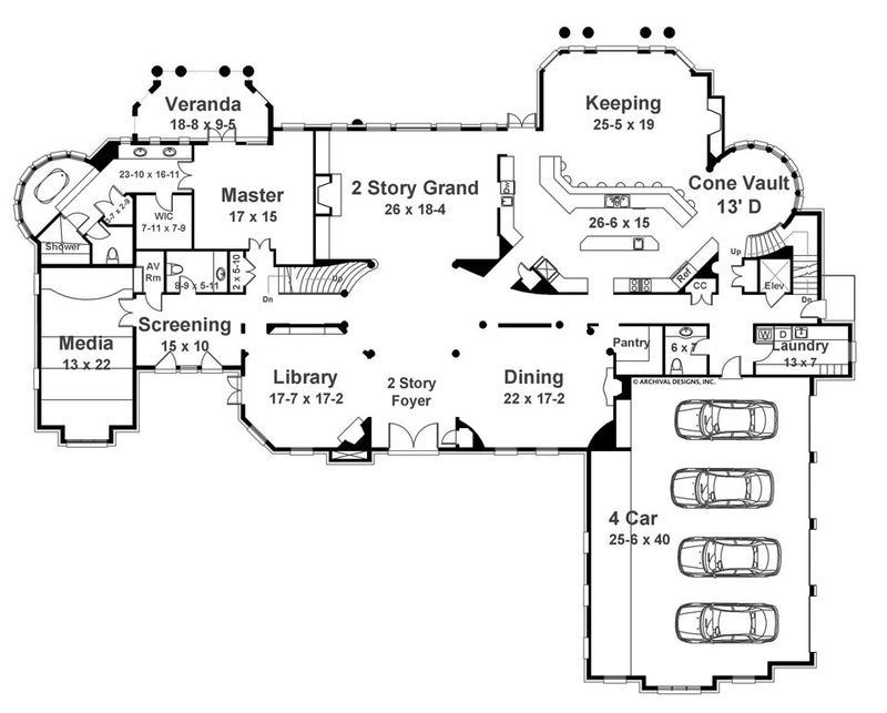 Bellenden Manor first floor, floor plan