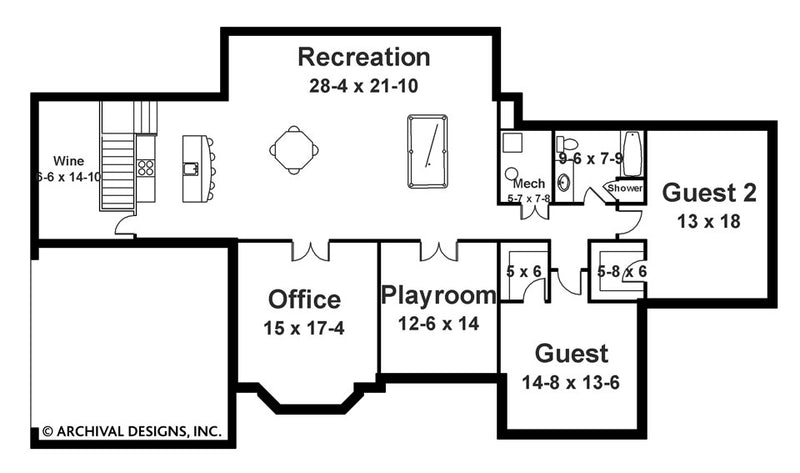 Berenson basement floor plan