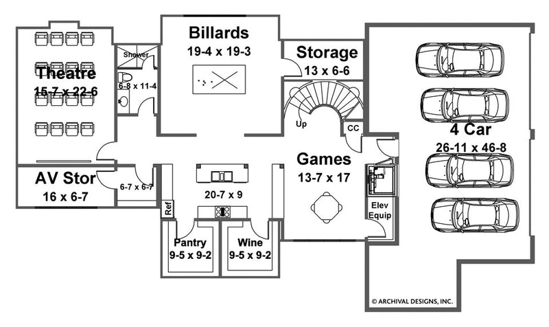 Berkeley Estate basement floor plan