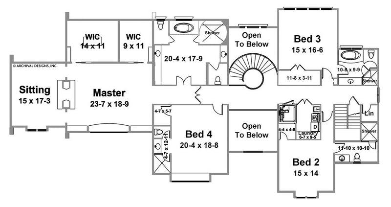 Berkeley Estate second floor, floor plan