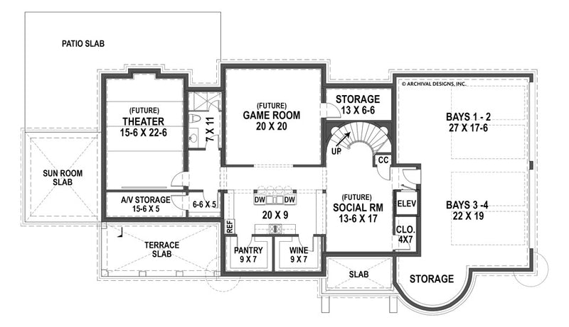 Bernini Estates basement floor plan