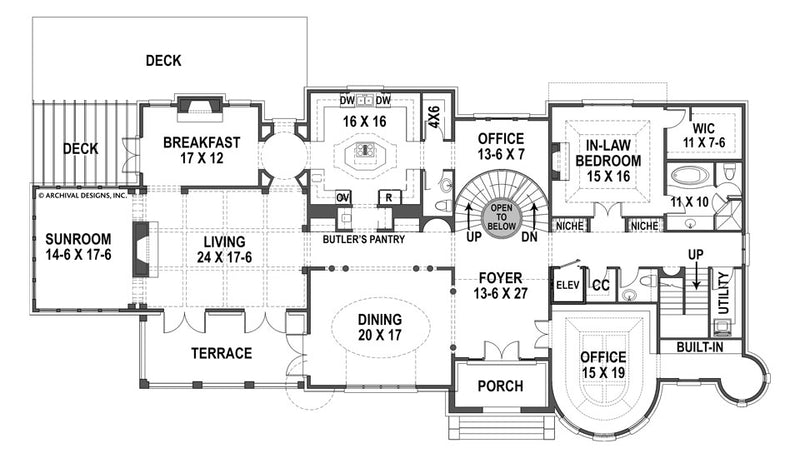 Bernini Estates first floor, floor plan