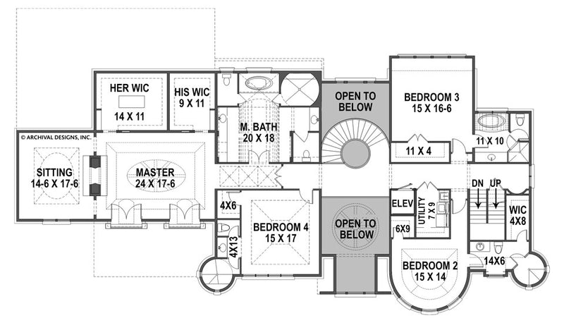 Bernini Estates second floor, floor plan