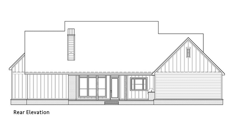 Black Creek Farmhouse | Rear Elevation