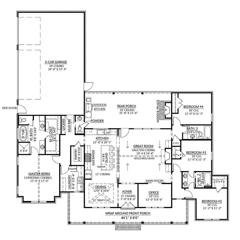Black Creek Farmhouse | First Floor Plan