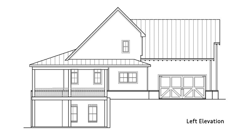 Blueberry Ranch House | Left Elevation