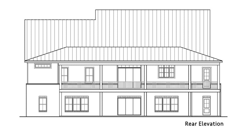 Blueberry Ranch House | Rear Elevation
