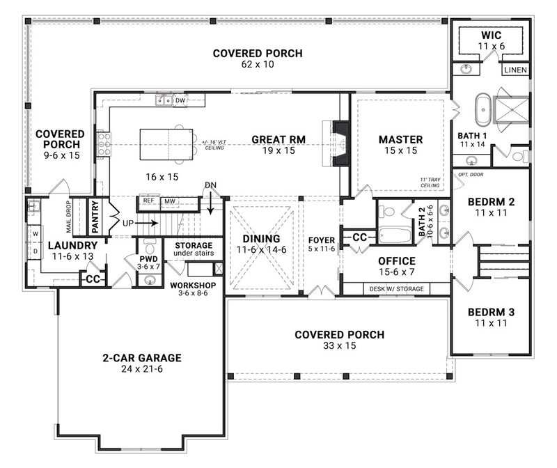 Blueberry Ranch House | First Floor Plan