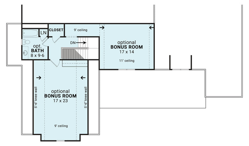 Blueberry Ranch House | Bonus Floor Plan