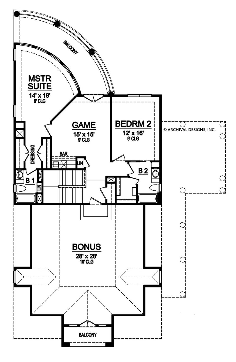 Boaz second floor, floor plan
