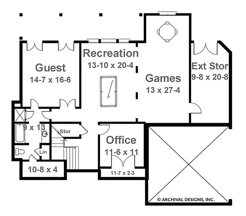Bostonian basement floor plan