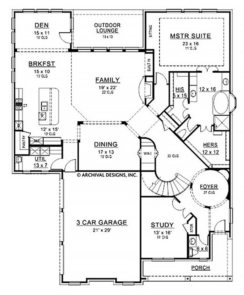 Branson Ridge first floor, floor plan