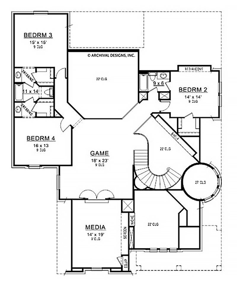 Branson Ridge second floor, floor plan