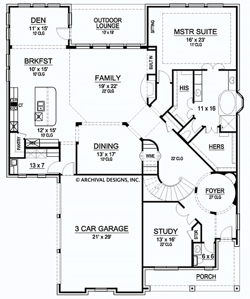 Branson Valley first floor, floor plan