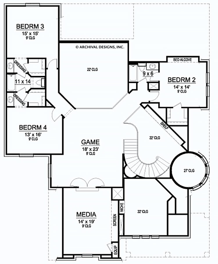 Branson Valley second floor, floor plan