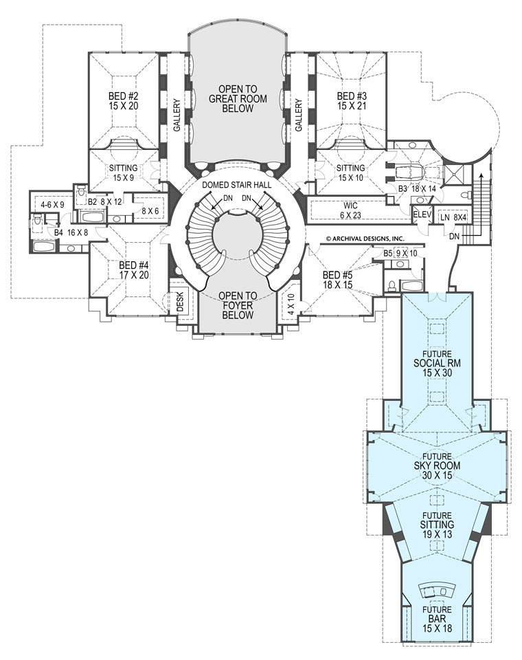 Breakers second floor, floor plan