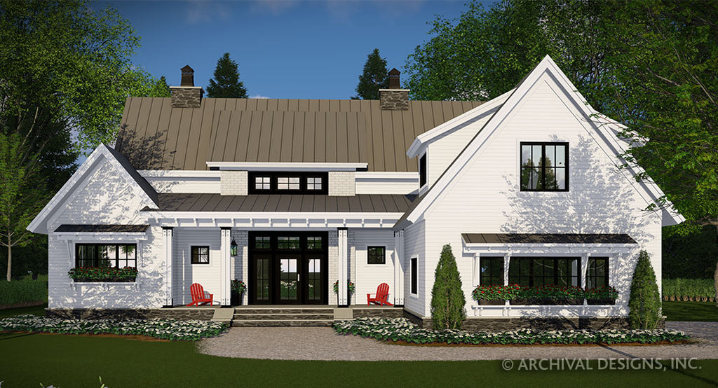 Breezy Grove Farm House Plan