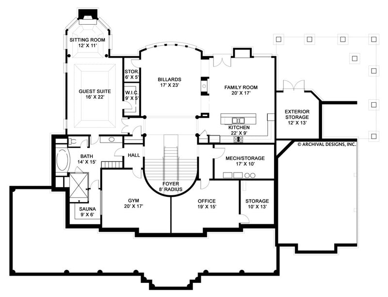 Broadstone basement floor plan