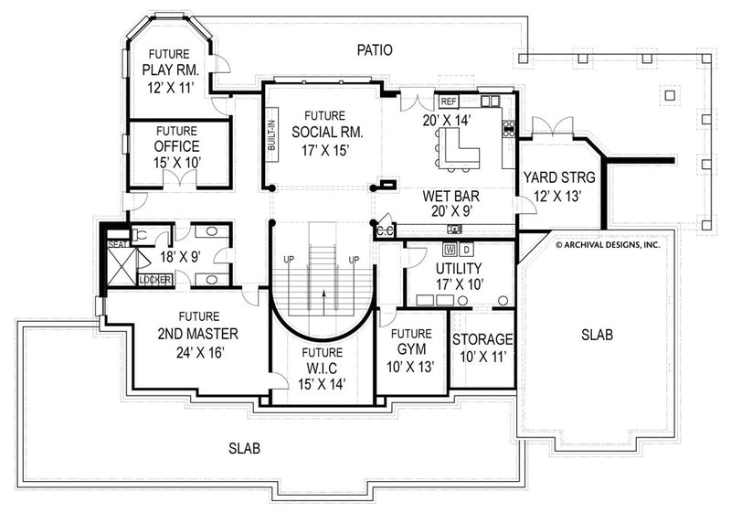 Broadstone Place basement floor plan