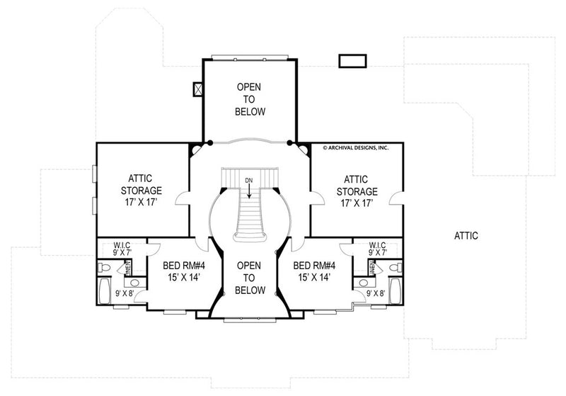 Broadstone Place second floor, floor plan