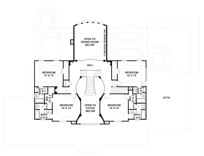 Broadstone second floor, floor plan