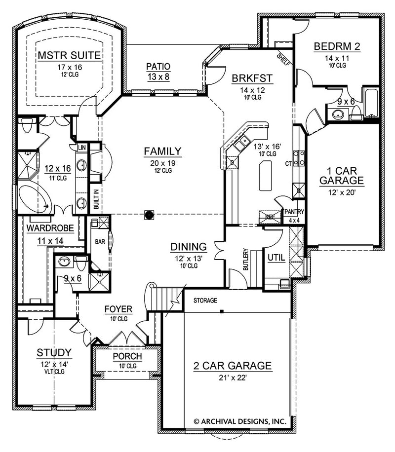 Broham Canyon first floor, floor plan