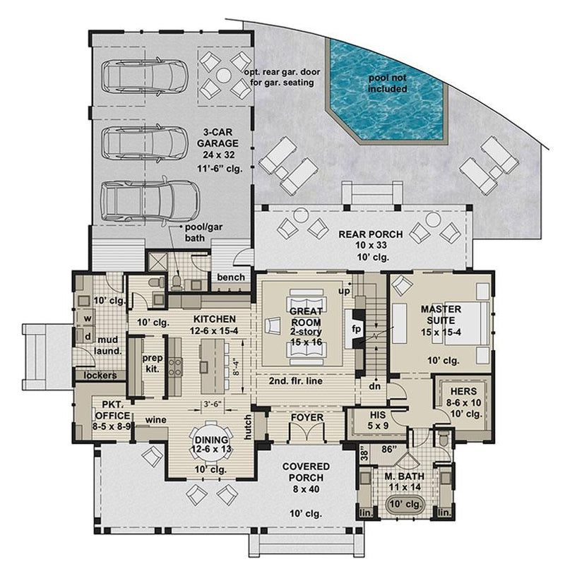 Brookside Farm, first floor plan