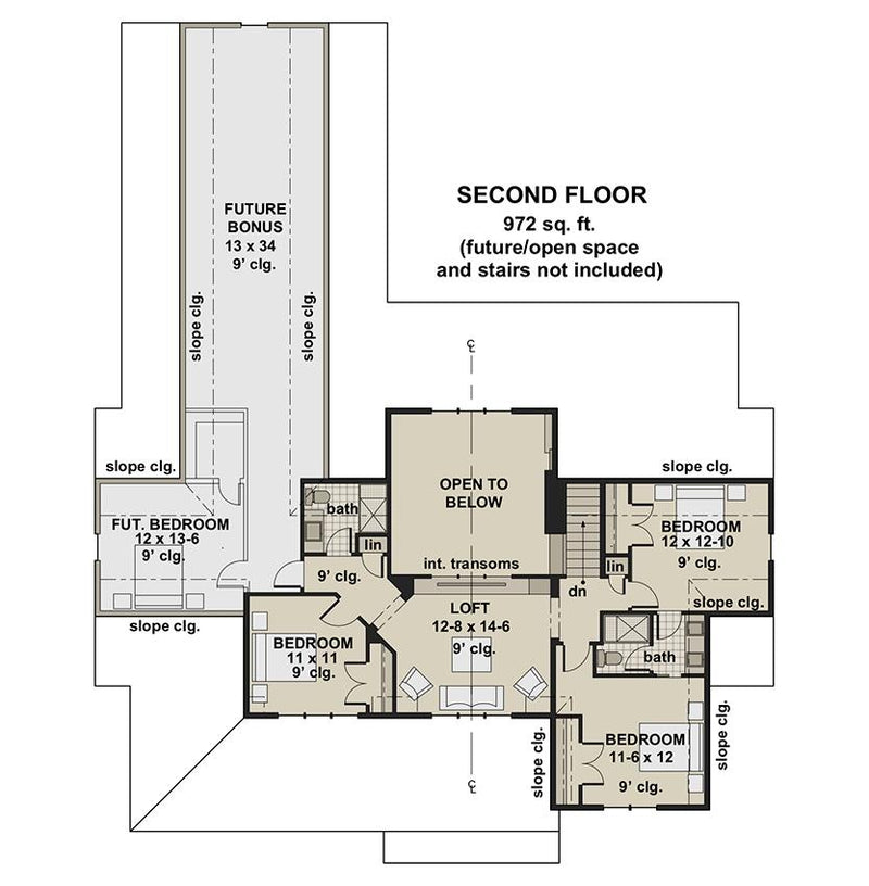 Brookside Farm, second floor plan