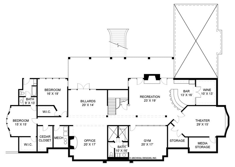 Buckingham basement floor plan