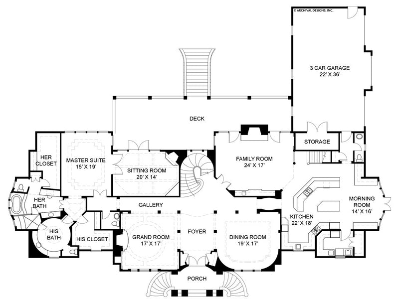 Buckingham first floor, floor plan