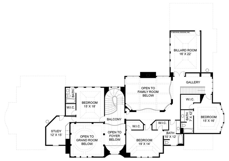 Buckingham second floor, floor plan