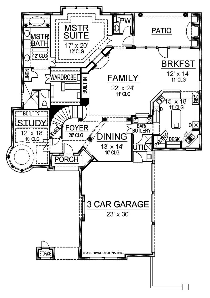 Buxton main floor plan