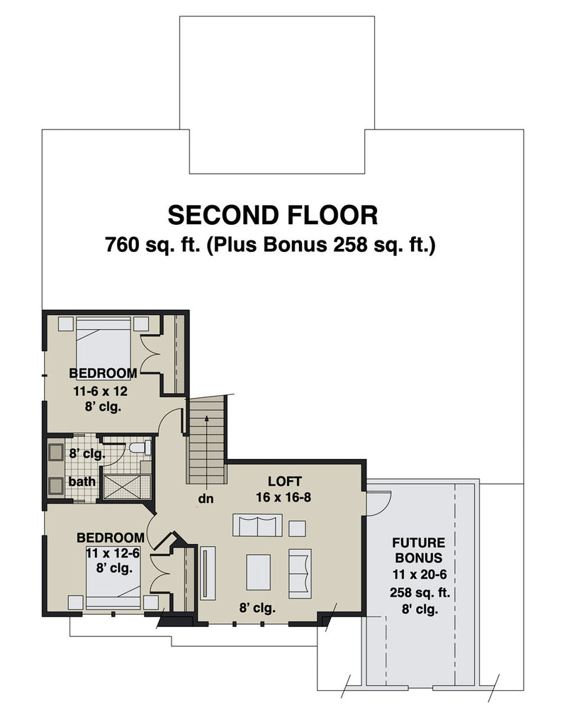 Bridgewater second floor plan