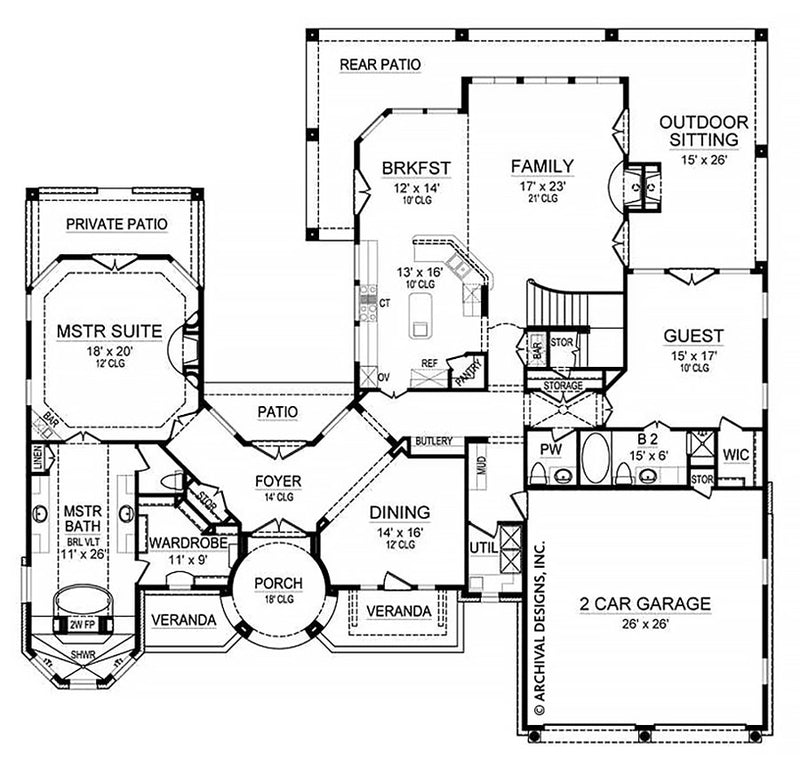 Cabo first floor, floor plan