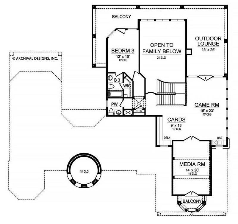 Cabo second floor, floor plan