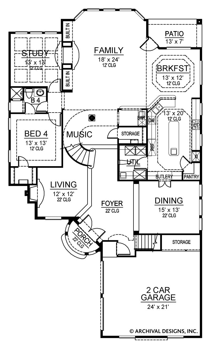 Calcutta first floor, floor plan