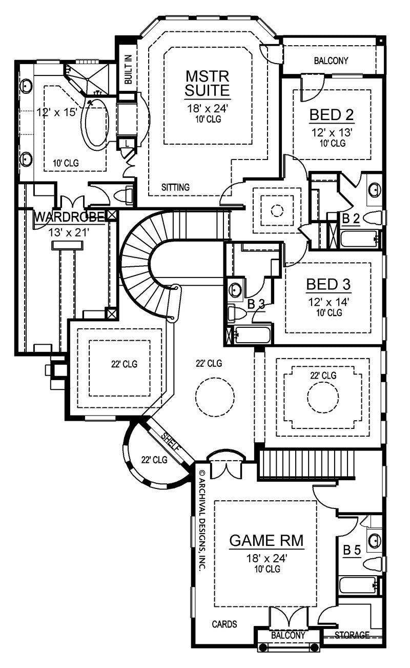 Calcutta second floor, floor plan