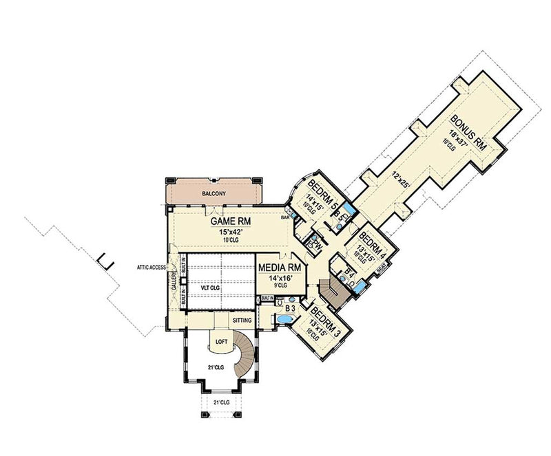 Caledonia, second floor plan