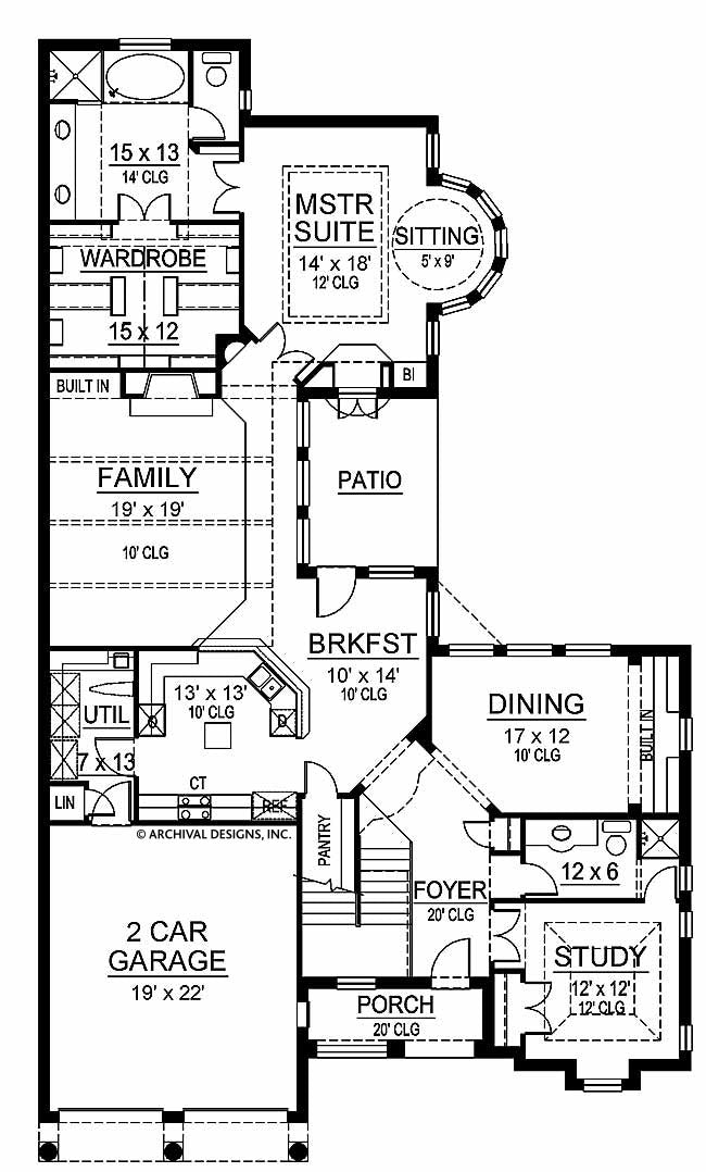 Canterbury first floor, floor plan